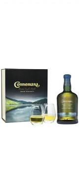 Whisky Connemara Distillers Edition Kibeggan Distillery Irlande en coffret 2 verres