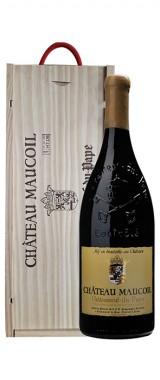 Magnum Châteauneuf-du-Pape Château Maucoil en caisse bois BIO