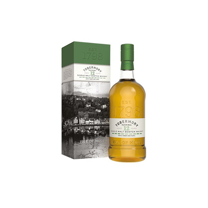 Whisky Tobermory 12 ans Ecosse en étui