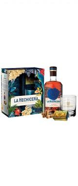 Rhum La Hechicera 40° Colombie en coffret 1 verre