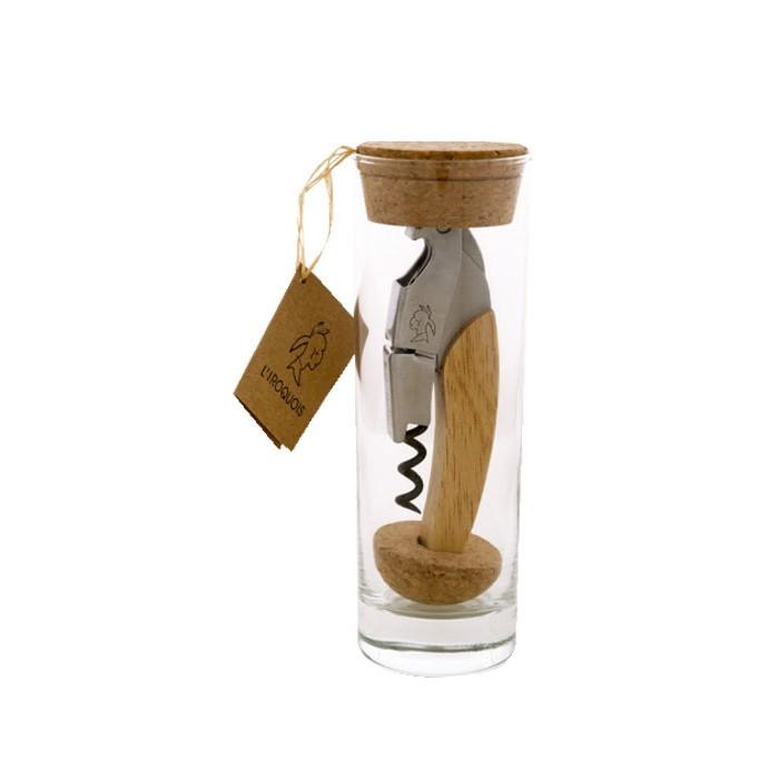Sommelier Iroquois Wood en flacon en verre