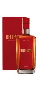 """Whisky français Triple Malt """"rouge"""" Maison Bellevoye en étui"""
