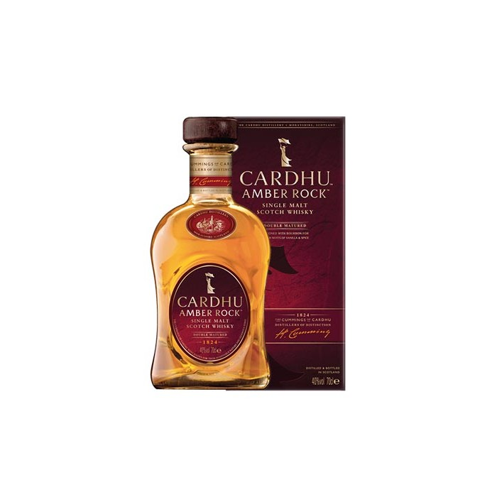 "Whisky ""Cardhu Amber Rock"" Single Malt 40° Ecosse en étui"
