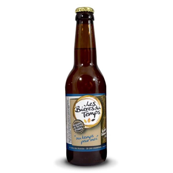 """Bière blanche """"Au temps pour moi"""" Les Bières du Temps BIO"""