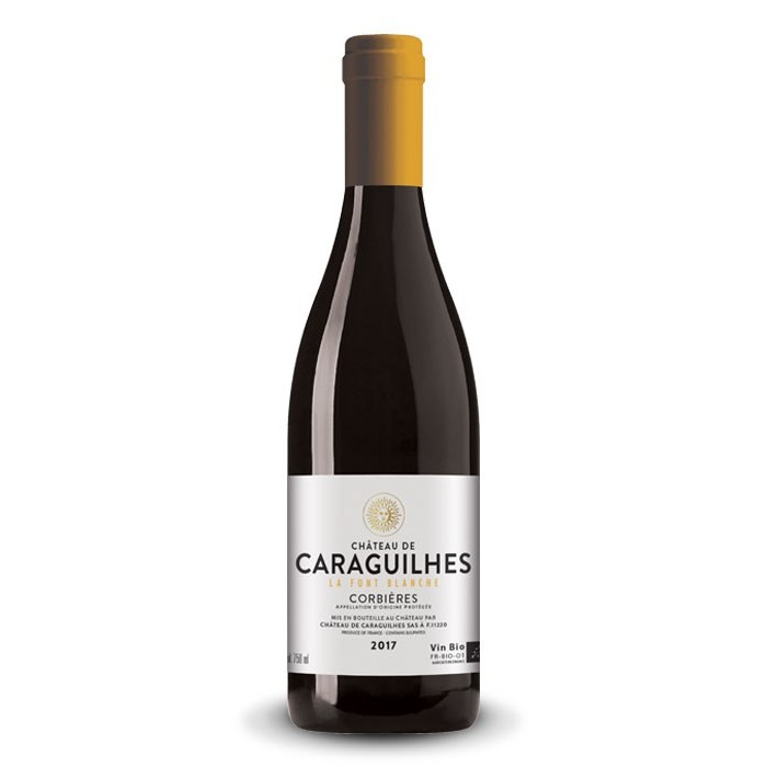 """Corbières """"La Font Blanche"""" Château de Caraguilhes BIO 2017"""