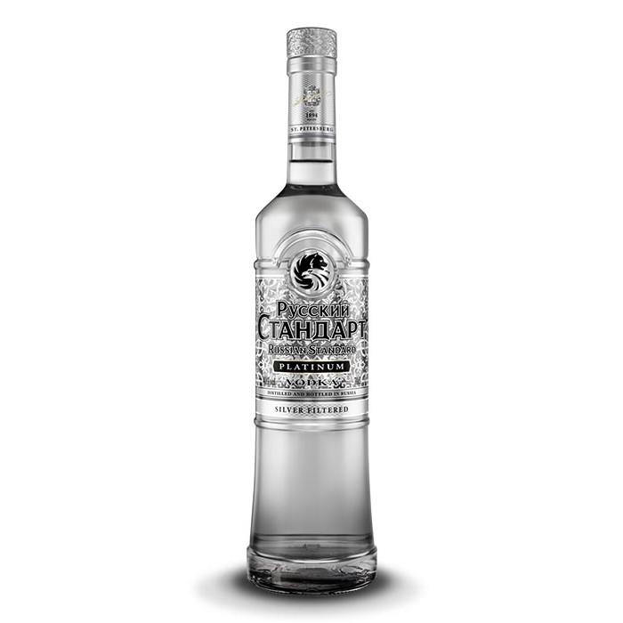 """Vodka """"Russian Standard Platinum"""" Russie"""