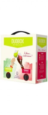 Duobox 3L Pays d'Oc blanc/rosé (Chardonnay/Cinsault) Maison Lavau