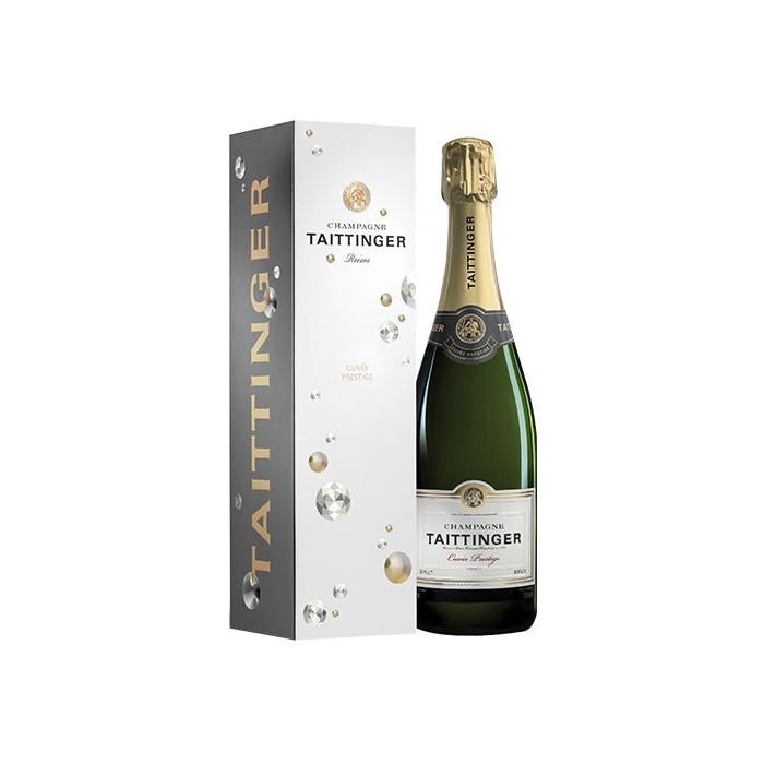 """Champagne Brut """"Cuvée Prestige"""" Maison Taittinger en coffret"""