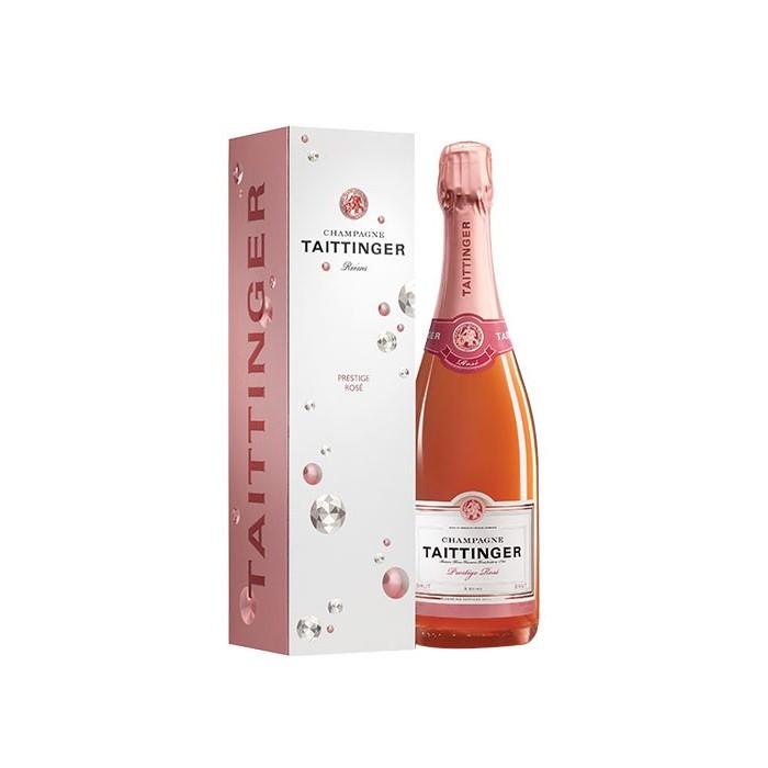 """Champagne Brut """"Prestige Rosé"""" Maison Taittinger en coffret"""