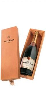 """Jéroboam Champagne Brut """"Cuvée Prestige"""" Maison Taittinger en coffret bois"""