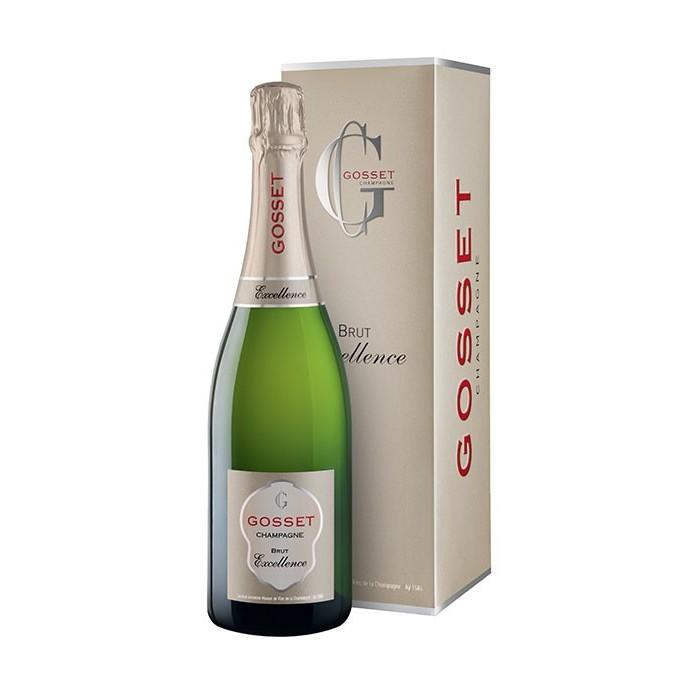"""Champagne Brut """"Excellence"""" Maison Gosset en étui"""