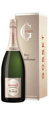 """Magnum Champagne Brut """"Excellence"""" Maison Gosset en étui"""