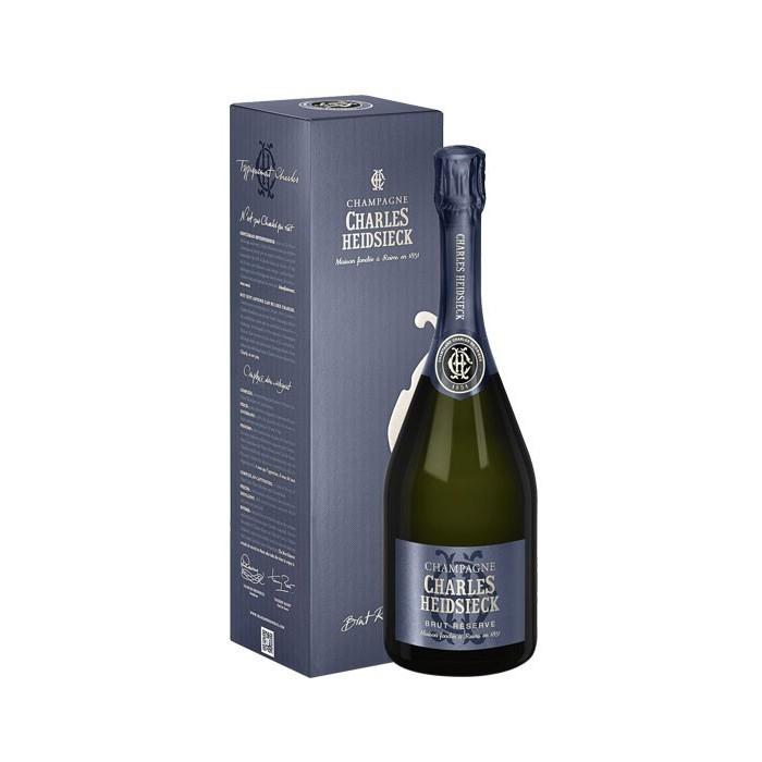 """Champagne """"Brut Réserve"""" Charles Heidsieck en étui"""