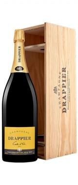 """Jéroboam Champagne Brut """"Carte d'Or"""" Maison Drappier en coffret bois"""