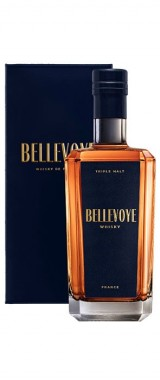 "Whisky français Triple Malt ""Bleu"" Maison Bellevoye en étui"