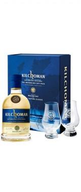 "Whisky Kilchoman ""Machir Bay"" 46° Ecosse en coffret 2 verres"