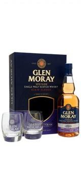Whisky Glen Moray Port Cask Finish Ecosse en coffret 2 verres
