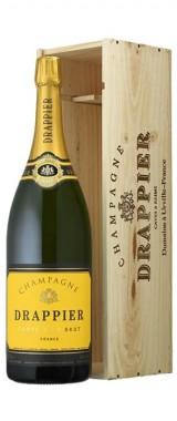"""Mathusalem Champagne Brut """"Carte d'Or"""" Maison Drappier en coffret bois"""