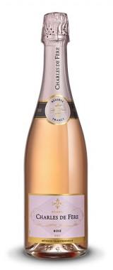 """Vin mousseux Rosé """"Méthode traditionnelle"""" Maison Charles de Fère"""